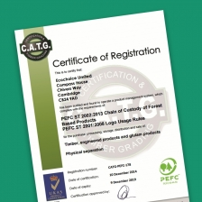 Our PEFC COC certificate