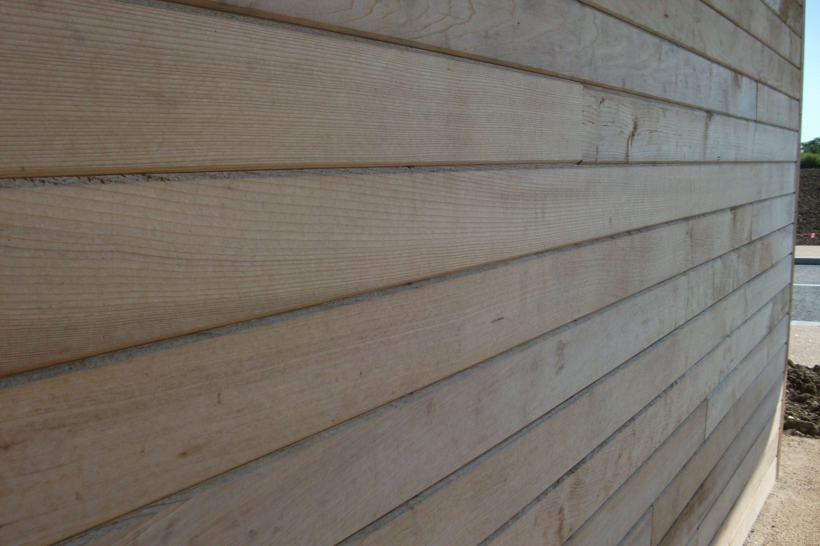 Cladding in Western Red Cedar